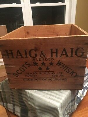 Haig And Haig Scots Whiskey Wooden Crate