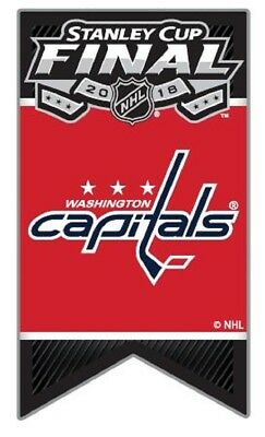 Washington Capitals Pin Stanley Cup Final Banner Style Official Licensed Aminco