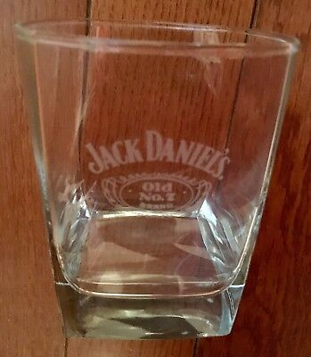 Jack Daniel's Rocks Glass Whiskey Tumbler Old Number No. 7 Seven Brand JD New