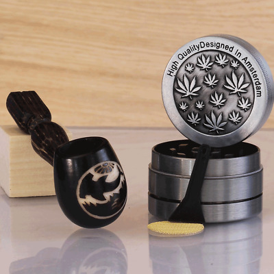 Hammered Wood pipe Hand Carved Tobacco Smoking Pipe Tagua Pot 3pc herb grinder
