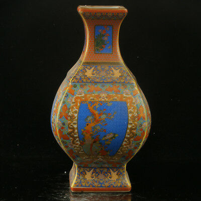Chinese Enamel Porcelain Hand Painted  Vase Made During The Yong Zheng Period @