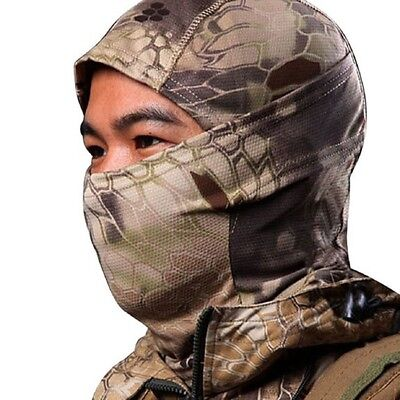 Camouflage Army Cycling Motorcycle Cap Balaclava Hats Full Face Mask Brown Q2B7