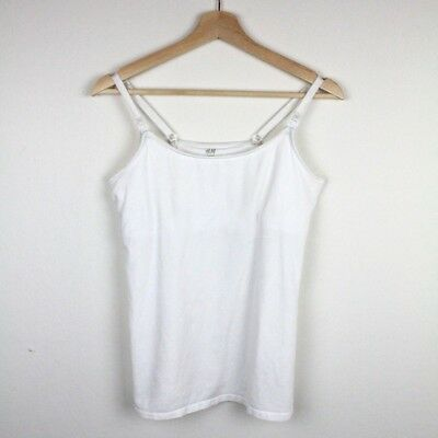 H & M Mama Medium Shirt Nursing Tank top White