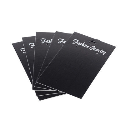 ❤ 25 x Wholesale BLACK Jewellery Earrings Display Cards 90mm x 50mm UK ❤