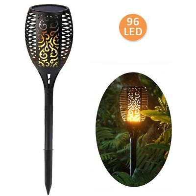 LED Solar Garden Torch Lights Dancing Flames 96 LEDs Waterproof Landscape Light