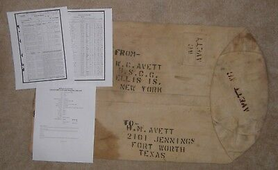 Named / D-Day / Lst-176 Wwii Uscg United States Coast Guard Duffle Bag Ww2
