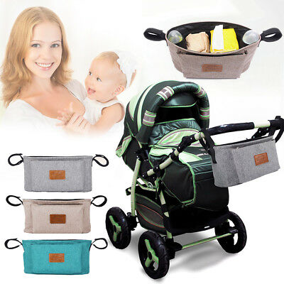 Universal Baby Pram Buggy Organiser Pushchair Stroller Storage Cup Holder Bag UK