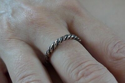 British Uk Metal Detecting Find Celtic Viking Bronze Ring Twisted Coiled Spiral