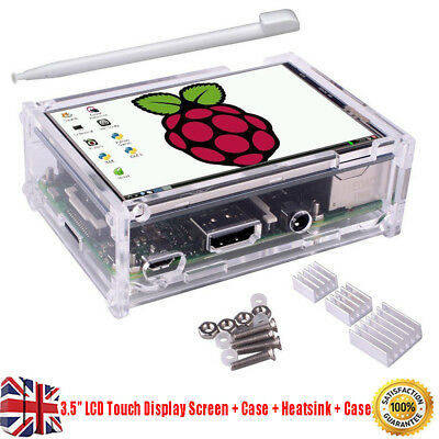 "For Raspberry Pi 2 3 3.5"" LCD Touch Display Screen Board Pen Kit+Case+Heatsink"