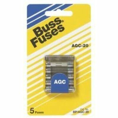 Cartridge Fuses Bussmann BP/AGC-1/2 Amp Fast Acting Glass Tube Fuse, 250V UL
