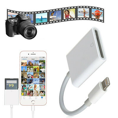 Small Lightning 8pin to SD Card Reader Camera Adapter For iPad iPhone 7 8 Plus X