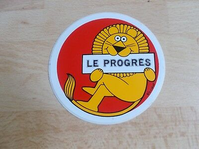 Autocollant / sticker journal LE PROGRES