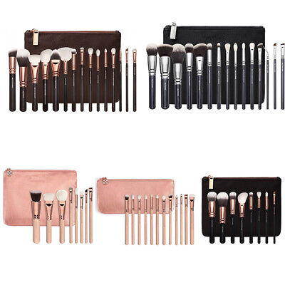 8-12-15PCS Rose Gold Bag Makeup Brushes Set Cosmetic Foundation Eye Powder Kit
