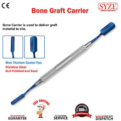 Dental Implant Bone Graft Carrier Packer Titanium Coated Lab Surgery Instruments