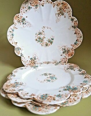 Foley China Wileman Cake Plate & Side Plates 6949  Floral pre Shelley Antique