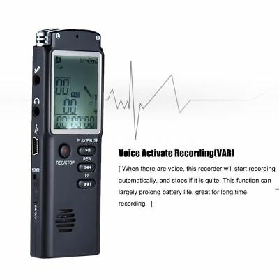 1536 Kbp VAR MICRO REGISTRATORE AUDIO VOCALE 8GB SPY SPIA VOICE RECORDER USB T60