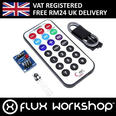 Infrared Remote Control Set TSOP 8m 38kHz 1838 IR Receiver Arduino Flux Workshop