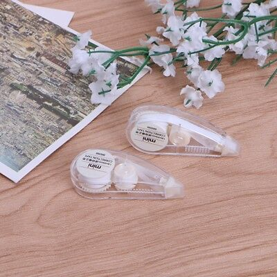 2Pcs Mini Cute Correction Tape Roller White Out Eraser School Office Stationery