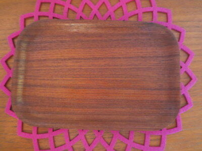 RETRO VINTAGE TEAK SERVING PLATTER TRAY ARY NYBRO MADE IN SWEDEN DANISH ERA 70s