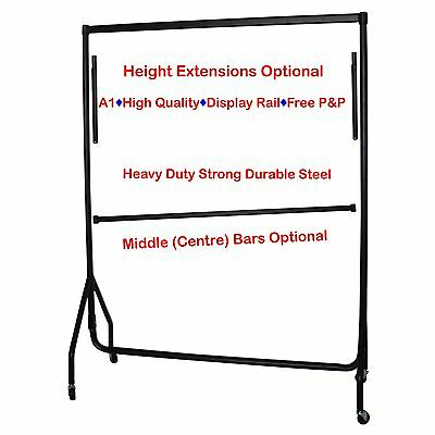 3ft WHITE BLACk HEAVY DUTY Garment Clothes Rail Portable Hanging Display Stands❤