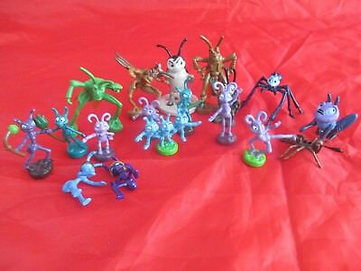 """Bundle of Bugs Life Antz Small 1"""" figures for playsets"""