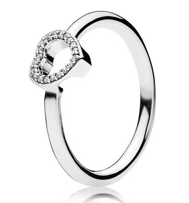 6158e3b30 PANDORA PUZZLE HEART FRAME RING S925 ALE SIZE 54 Stacking Ring ...