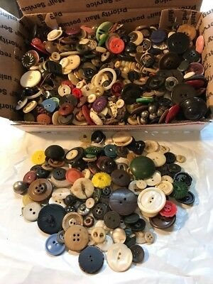 Lot Of Vintage / Antique Buttons Mixed Lot Small Flat Rate Full 2 Lbs Lot 6
