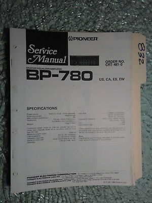 Pioneer service manualbp 320 booster amplifierampcar unit pioneer bp 780 service manual original repair book stereo car radio eq 29 pages asfbconference2016 Images