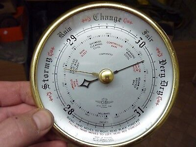 Nice Old Aneroid Barometer Insert Movement Etc - Working Fine (Sb)