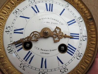 Antique Victorian Japy Striking Clock Movement For  Tlc Makers To The Queen