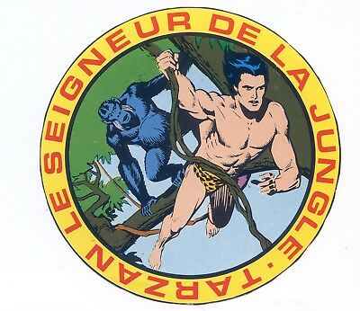 Autocollant Vintage Sticker BD Tarzan Seigneur de la Jungle PIF N°2 collection