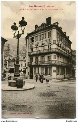 CPA-Carte postale-  France - Cauteret - La Place Saint martin (CP3309)
