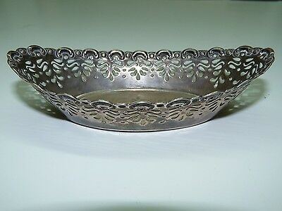 Antique 1899 Silver 925 Openwork Basket Gebr Friedlander Marked Sheffield 13.3cm