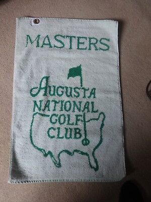 US Masters golf towel used but in good condition