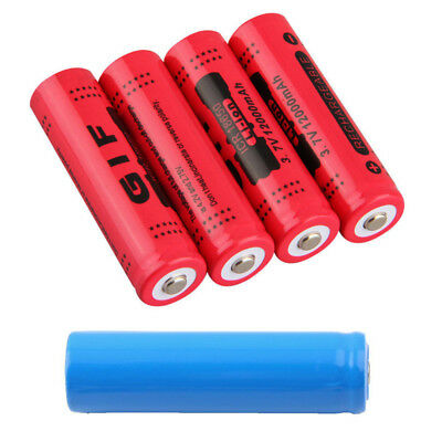 18650 3.7V 5000/12000mAh Rechargeable Li-ion Battery for LED Torch Flashlight XI