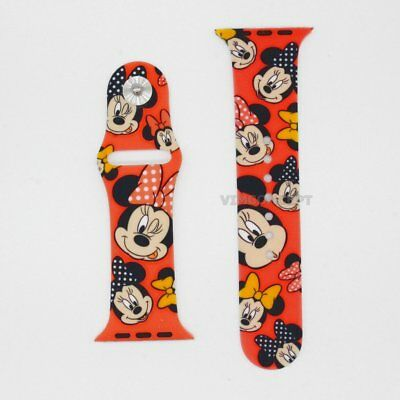 Authentic Disney Minnie Mouse Face Replacement Band For Apple Watch 42mm / 44mm