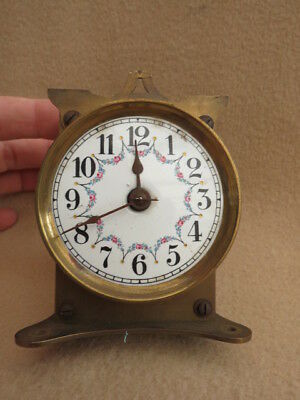 Antique Vintage Torsion Clock Movement Dial And Hands For Spares Repair Lot 1