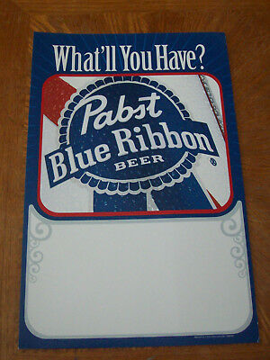 Pabst Blue Ribbon Gallery Cardboard Easel Beer Sign NOS What'll You Have?