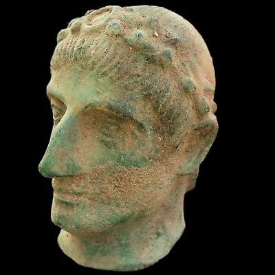 RARE ANCIENT ROMAN BRONZE BUST   200-400 AD, 11cm High !!!!!!