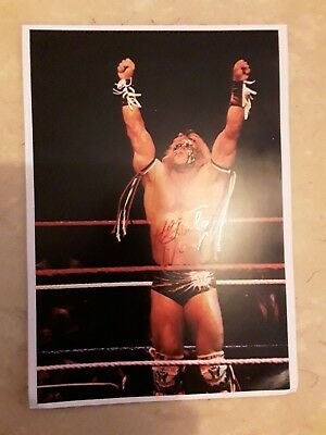 WWE Legend Ultimate Warrior Handsigniertes Signed Autogramm Großfoto