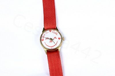 PSA Vintage Wrist WATCH Love Ruth PINK Band Original Pacific Southwest Airlines