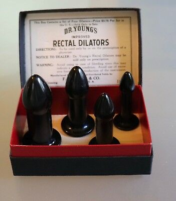 1920's Dr. Youngs Improved Rectal Dilators (Set of 4) Chicago, Original Box