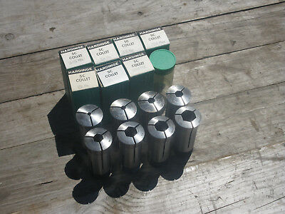 "Hardinge 5C hex. collets 8 pcs. 3/16"" - 3/4"""