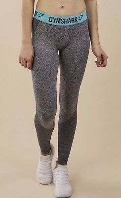 a7c92d1d0f11a GYMSHARK FLEX LEGGINGS Charcoal Marl/Pale Turquoise - Extra Small XS ...