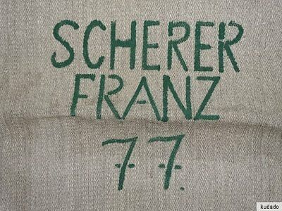 Nr.I7368 Leinensack / Getreidesack um 1940 - old grain bag - SACK LEINEN - TOP