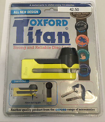 Oxford Titan - Strong and Reliable Disc Lock - Yellow OF51