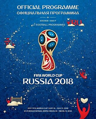 * 2018 Fifa World Cup Finals Official Tournament Programme (Russia) *