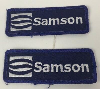 "Lot Of 2 Samson Royal Blue & White Patches 1.25"" Tall x 3.25"" Wide"
