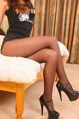 00ccac89e1f99 Q D C B PEAVEY PANTYHOSE Hooters NFL Sexy Industry Hosiery PECAN Brown Pick  Size