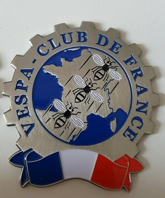 plaque vespa club de france